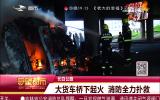 大货车桥下起火 消防全力扑救