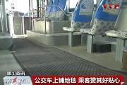 【独家视频】公交车上铺地毯 乘客赞其好贴心