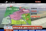 【独家视频】跨珲乌高速公路特大桥主体工程完工