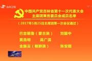 中国共产党吉林省第十一次代表大会主席团常务委员会成员名单