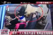 【独家视频】四平:三人饭店内盗窃 视频监控现踪影