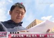 """【独家视频】聘请公司推广网站 何为""""竞价""""生分歧"""
