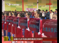 全國少兒乒乓球比賽在梅河口市舉行