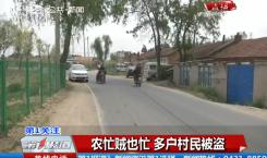 第1报道|农忙贼也忙 多户村民被盗
