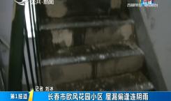 第1报道|长春市欧风花园小区 屋漏偏缝连阴雨