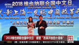 """2018维也纳联合国中文日:感受""""改革开放四十周年"""""""