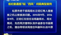 """省纪委通报7起""""四风""""问题典型案例"""
