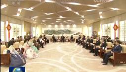 [视频]习近平和夫人彭丽媛会见李洙墉并观看朝鲜友好艺术团演出