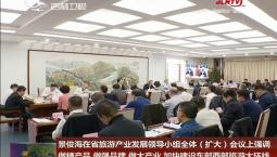 景俊海在省旅游产业发展领导小组全体(扩大)会议上强调 做精产品 做强品牌 做大产业 加快建设东部西部旅游大环线
