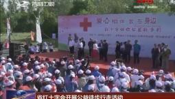 省红十字会开展公益徒步行走活动