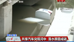第1报道|共享汽车突现河中 落水原因成谜