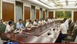 景俊海与华为公司中国区总裁鲁勇举行会谈