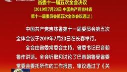 省委十一届五次全会决议