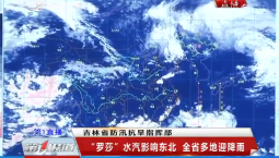 """第1报道 """"罗莎""""水汽影响东北 吉林省多地迎降雨"""