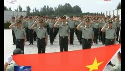 吉林省军区官兵走进革命烈士陵园