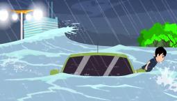【公益广告】车辆驶入深水区该如何自救?