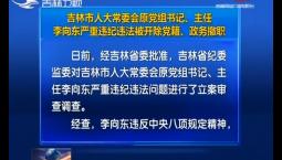 吉林市人大常委会原党组书记、主任李向东严重违纪违法被开除党籍、政务撤职