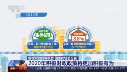 2020年积极财政政策将更加积极有为