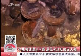 【独家视频】供暖管线漏水不断 居民多次反映无人修