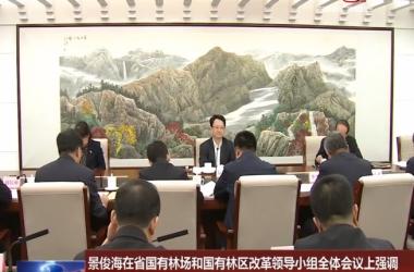 景俊海在省国有林场和国有林区改革领导小组全体会议上强调 深入推进国有林场林区改革 促进生态文明建设取得新成效