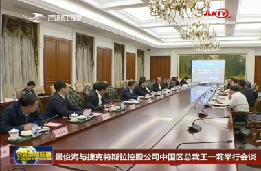 景俊海与捷克特斯拉控股公司中国区总裁王一莉举行会谈