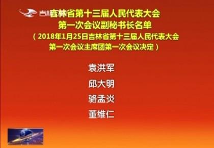 吉林省第十三届人民代表大会第一次会议副秘书长名单