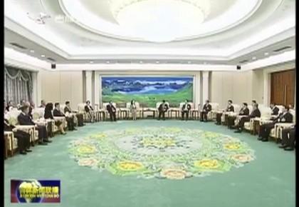巴音朝鲁 景俊海 江泽林会见省政协港澳委员