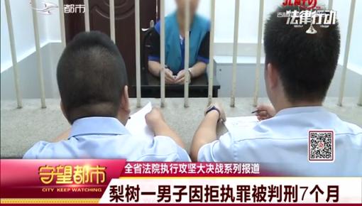 梨树一男子因拒执罪被判刑7个月