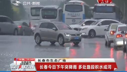 第1报道|长春11日下午突降雨 多处路段积水成河