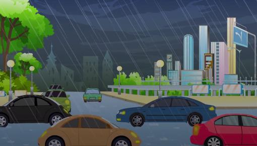 【公益广告】暴雨天驾车出行需注意哪些方面?