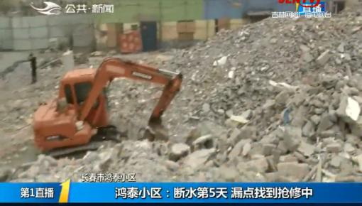 第1报道|鸿泰小区:断水第5天 漏点找到抢修中
