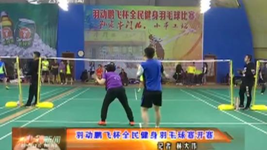 羽动鹏飞杯全民健身羽毛球赛开赛