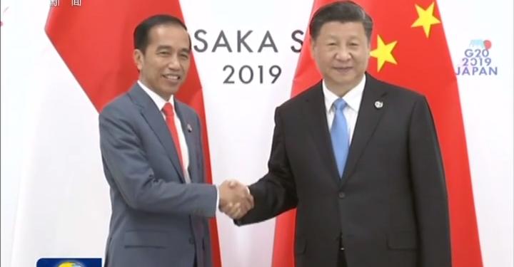 习近平会见印度尼西亚总统