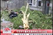 今天中午暴风突袭双阳区部分村庄