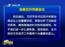 省委召開常委會議