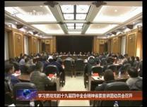 学习贯彻党的十九届四中全会精神省委宣讲团动员会召开