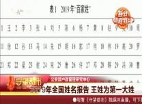 守望都市|2019年全国姓名报告 王姓为第一大姓