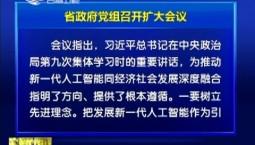 省政府党组召开扩大会议