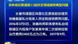 吉林省纪委通报11起扶贫领域腐败典型问题