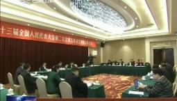 吉林代表团分组审议外商投资法草案