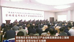 景俊海在全省通用航空产业战略发展座谈会上强调 对接需求 培育市场 扩大规模  推动通用航空产业高质量发展