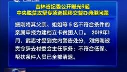 吉林省纪委公开曝光9起中央脱贫攻坚专项巡视移交督办典型问题