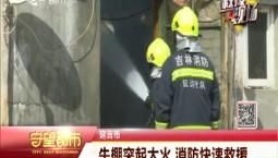 守望都市|延吉市:牛棚突起大火 消防快速救援