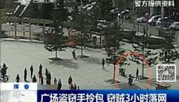 新闻早报|广场盗窃手拎包 窃贼3小时落网