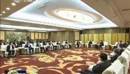宁波市代表团在我省考察 巴音朝鲁景俊海会见裘东耀一行