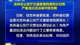 吉林省公安廳交通管理局原局長劉偉嚴重違紀違法被開除黨籍