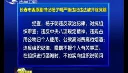 长春市委原副书记杨子明严重违纪违法被开除党籍