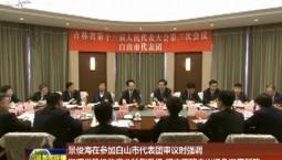 景俊海在参加白山市代表团审议时强调 发挥优势推动产业转型升级 坚定不移走出绿色发展新路