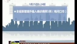 【防疫资讯】全省新增境外输入确诊病例1例