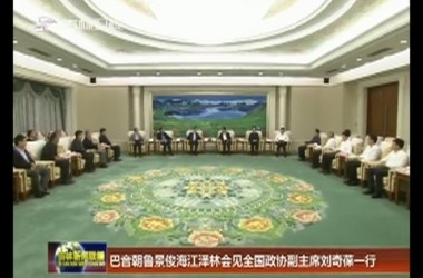 巴音朝鲁景俊海江泽林会见全国政协副主席刘奇葆一行